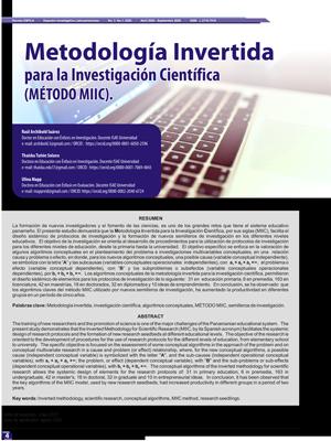 Metodología Invertida para la Investigación Científica (MÉTODO MIIC).