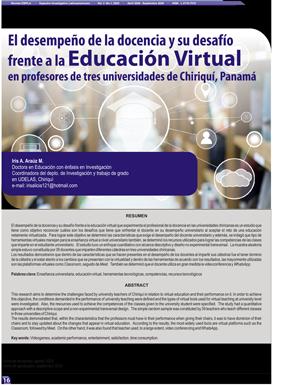 El desempeño de la docencia y su desafío frente a la Educación Virtual  en profesores de tres universidades de Chiriquí, Panamá