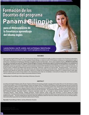 Formación de los Docentes del programa Panamá Bilingüe  para el Mejoramiento de la Enseñanza-aprendizaje del Idioma Inglés