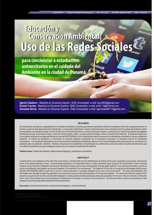 Educación y Conservación Ambiental:  Uso de las Redes Sociales  para concienciar a estudiantes universitarios en el cuidado del Ambiente en la ciudad de Panamá